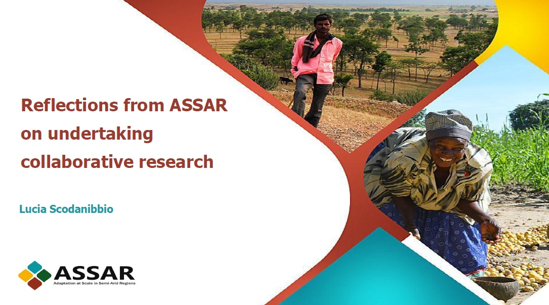 Reflections from ASSAR on undertaking collaborative research