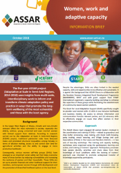Women, work and adaptive capacity – information brief