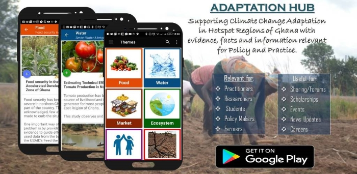 Adaptation Hub: using mobile apps to support agriculture and adaptation planning in semi-arid Ghana