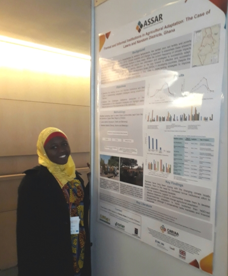 Rabiatu Abass presenting her poster at Adaptation Futures in Cape Town