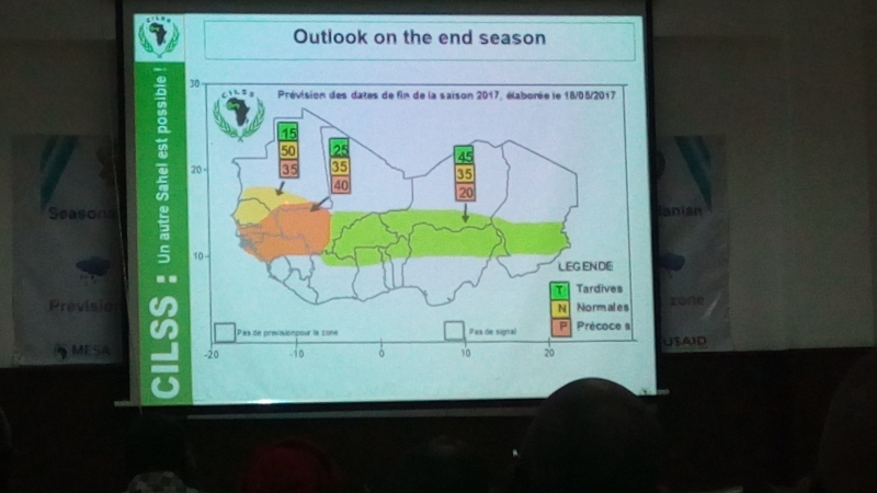 Seasonal outlook for West Africa presented by CILSS.