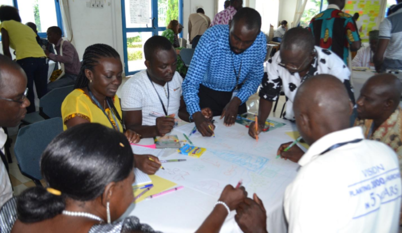 Stakeholders working together during the ASSAR TSP process in Ghana