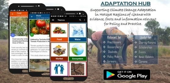 Adaptation Hub: new mobile app supports agriculture and adaptation planning in Ghana