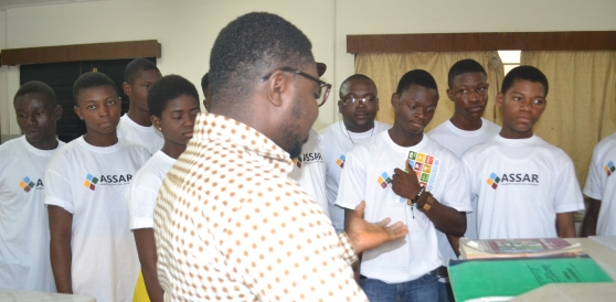 CATYI students on a visit to the Ecological Laboratory (ECOLAB) at the University of Ghana